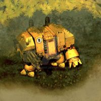 Imperial Fist Dreadnought by Freiheight