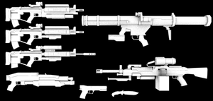 Killzone ISA Weapons Untexed by thefirewarriors