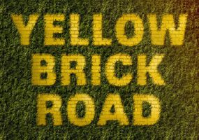 Yellow Brick Road Inspire Text Effect in photoshop by Designslots