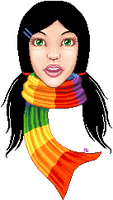 Rainbow Scarf by beblue