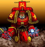 Communist Space Marine by GodOfSpoons