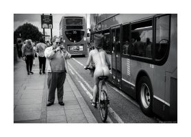 World Naked Bike Ride - spectator by lightdrafter