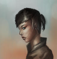 Female Face in Profile by JoshuaNel