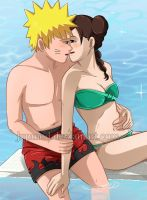 NaruTen: Pool Side Intimacy (Close-up) by JuPMod