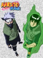 The Masters Kakashi and Gai by Klubin