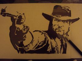 Red Dead Redemption stencil by fear-0f-james