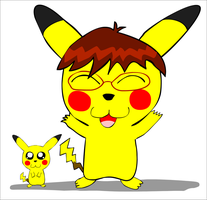 First try: Pikachus by schoolfilmer