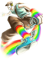 TF2: Rainbow scoot by DarkLitria