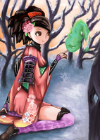Momohime and Jinkuro by Fred-Rena