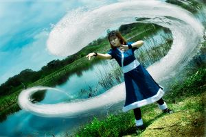 Katara Training a Waterbending by RacoonFactory