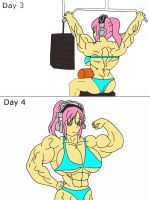 The Fitness Test Page 4 By Jessicamuscle-Color by rogex999