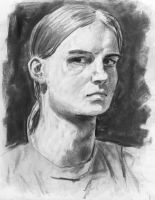 Self Portrait in Charcoal by Winter-Evening