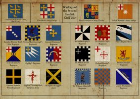 Flags of the 2nd English Civil War by edthomasten