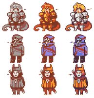 Character Sprites by EFBailey