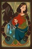 Merida and Elinor by MadEye01