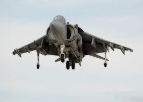 Harrier Landing by jdmimages