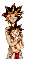 Yami and Yugi by SparrowsHellcat