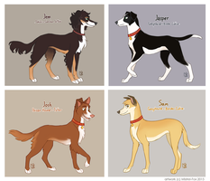Redcoat West dogs by Mistrel-Fox