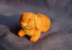 needle felted rabbit 2 by were-were-wolfy