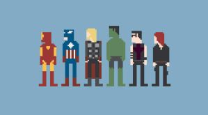 Avengers 8-Bit by Al-Pennyworth
