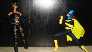 Catwoman vs Batgirl 1 by Selinelle