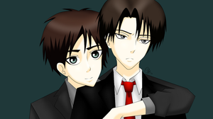 Actual Levi and Eren draw by xBulletproofCatx
