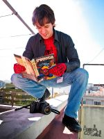 Peter reads Spiderman by namishion