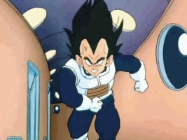 Vegeta is coming to get you.GIF by Gladiatuss