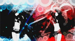Black Rock Shooter and Black Gold Saw Percolator by Noir-Black-Shooter