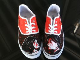 My Chemical Romance revenge shoes by 3cheersforart