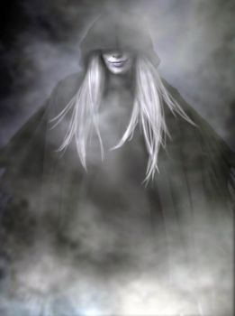 She rises from the mist by Dreamfollower