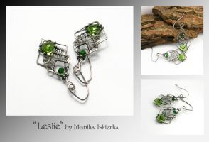 Leslie- wire wrapped earrings by mea00