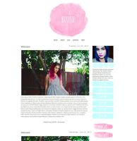 Blush Blogger Template LAST CALL by tiny-moon