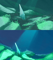 Underwater Backgrounds by tashcrow