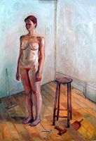 nude in atellier by sculptorandpainter