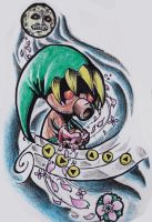 Majora's Mask Tattoo Flash by nintendork64