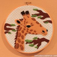 Giraffe Hoop by loveandasandwich