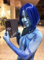 Halo - Cortana at Halo 4 Midnight Release by Hyokenseisou-Cosplay