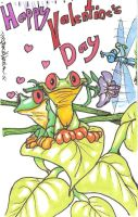 Happy Valentines Day, frogs by StephanieAKAfany