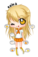 Raika Chibi (school uniform) Ref by Bunny-Jelli