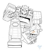 Ratchet line art by Tyr44