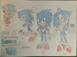 Happy 25th Anniversary Sonic! by SuperMLbros