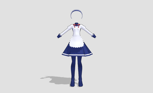 MMD LAT maid outfit by amiamy111