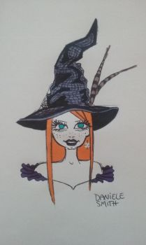 Inktober Day 2- The Old Witch's Hat by dannieallie
