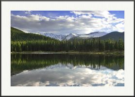Reflections of Mt Evans by yenom
