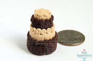 1:12 Chocolate and Peanut Butter Cake by Bon-AppetEats