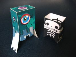 paper monsters by wwei