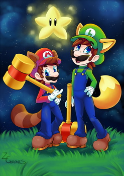Mario and Luigi by Z-Graves