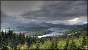 The Highlands of Scotland by Rebacan