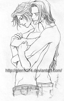 FF8 doujin: Squall+Irvine by glen1174